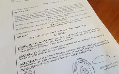 NARDINI FIRMÓ 22% DE AUMENTO A MUNICIPALES EN MALVINAS ARGENTINAS