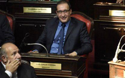 LUIS VIVONA COMO SENADOR PERONISTA NO VOTÓ LEY ANTITRABAJADORA DE ART