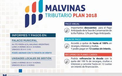 EN MALVINAS ARGENTINAS SE EXTIENDE EL PLAN TRIBUTARIO 2018