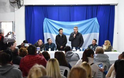FRANCO LA PORTA CON UN NUEVO SAN MIGUEL RECIBIERON AL DIPUTADO AGUSTÍN ROSSI