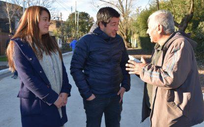 SE INAUGURARON DOS NUEVOS PAVIMENTOS EN LOS POLVORINES DE MALVINAS ARGENTINAS