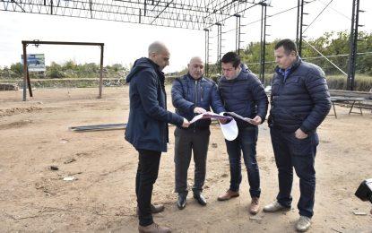 EN MALVINAS ARGENTINAS NARDINI RECORRIÓ OBRA DE POLIDEPORTIVO LOS POLVORINES