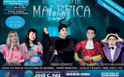"""VACACIONES DE INVIERNO EN EL TEATRO MUNICIPAL DE JOSÉ C. PAZ CON """"EL CASTILLO DE MALÉFICA"""""""