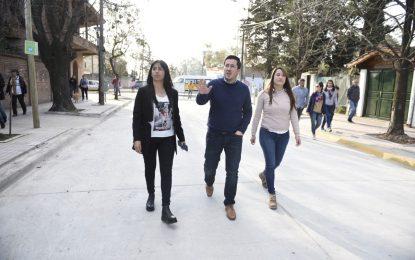 NARDINI RECORRIÓ LA OBRA DE HORMIGONADO DE CALLE SAVIO DE LOS POLVORINES