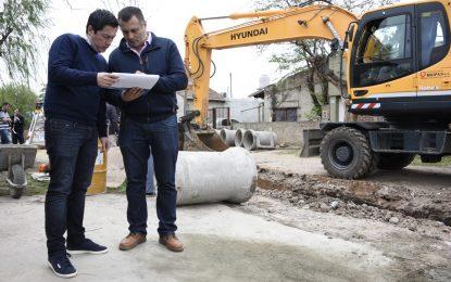 LLEGARON LAS OBRAS HIDRÁULICAS A VILLA DE MAYO PARA EVITAR INUNDACIONES