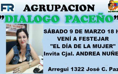 """LA AGRUPACIÓN """"DIÁLOGO PACEÑO"""" INVITA A CELEBRAR EL DÍA DE LA MUJER. ENTERATE"""
