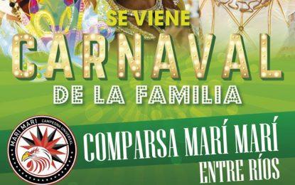 SÁBADO COMPARSA MARÍ MARÍ Y DOMINGO ALELÍ EN EL CARNAVAL DE LA FAMILIA EN MALVINAS ARGENTINAS. ENTERATE