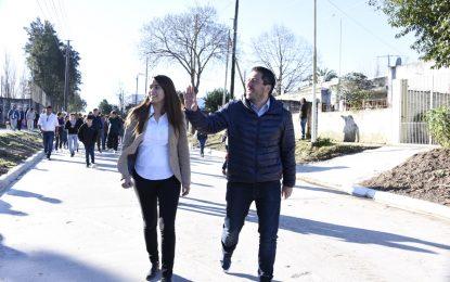 NARDINI CUMPLE Y MALVINAS ARGENTINAS AVANZA EN OBRAS VIALES
