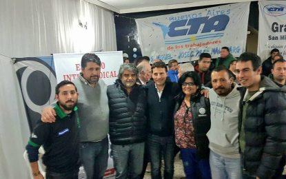 HISTÓRICO ENCUENTRO INTERSINDICAL CGT-CTA EN SAN MIGUEL POR LEY DE RT