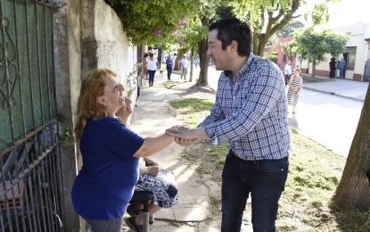 EL INTENDENTE NARDINI INAUGURÓ UN NUEVO PAVIMENTO EN GRAND BOURG
