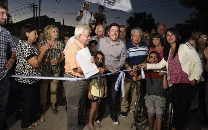 NARDINI INAUGURA NUEVA OBRA EN UN MALVINAS ARGENTINAS QUE NO PARA