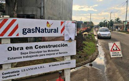 AVANZA OBRA DE GAS NATURAL EN GESTIÓN DE ISHII EN JOSÉ C. PAZ