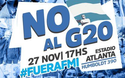 ACTO EN ATLANTA DE LOS MOVIMIENTOS POPULARES CONTRA EL G20 Y EL FMI