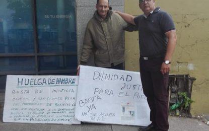 VECINO DE MALVINAS ARGENTINAS RETOMA HUELGA DE HAMBRE FRENTE A EDENOR LOS POLVORINES