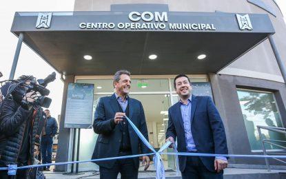 AMPLIANDO SEGURIDAD NARDINI INAUGURÓ JUNTO A MASSA CENTRO DE MONITOREO PARA 1.200 CÁMARAS