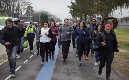 LEO NARDINI EN EL CORREDOR AERÓBICO SEGUÍ DE MALVINAS ARGENTINAS JUNTO A VECINOS