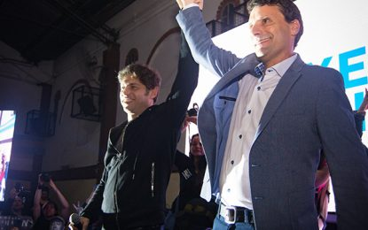 FUERTE APOYO DE AXEL KICILLOF A FRANCO LA PORTA COMO CANDIDATO A INTENDENTE POR SAN MIGUEL