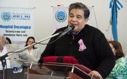 EL INTENDENTE ISHII PARTICIPÓ EN EL HOSPITAL ONCOLÓGICO DE JOSÉ C. PAZ DE LA JORNADA DE PREVENCIÓN DEL CÁNCER DE MAMA