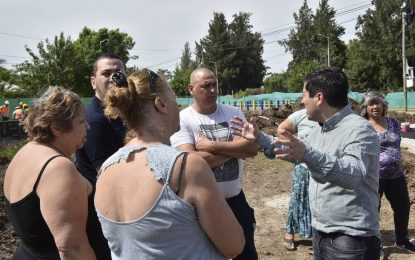 OBRA DE CORREDOR AERÓBICO HOOKE EN GRAND BOURG FUE VISITADA POR EL INTENDENTE NARDINI