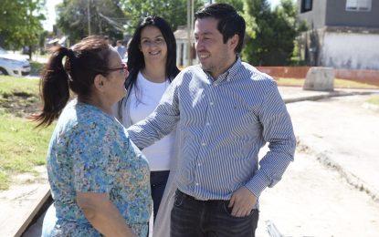 OBRA DE PAVIMENTACIÓN E HIDRÁULICA EN SOURDEAUX SUPERVISADA POR EL INTENDENTE NARDINI