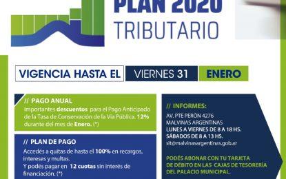 PLAN TRIBUTARIO 2020 EN MALVINAS ARGENTINAS ABONANDO CON IMPORTANTES DESCUENTOS