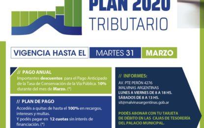 EL PLAN TRIBUTARIO 2020 EN MALVINAS ARGENTINAS SE EXTIENDE HASTA EL 31 DE MARZO