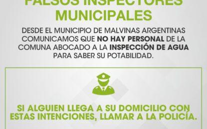 FALSOS INSPECTORES MUNICIPALES DE POTABILIDAD DE AGUA DENUNCIADOS POR EL MUNICIPIO DE MALVINAS ARGENTINAS