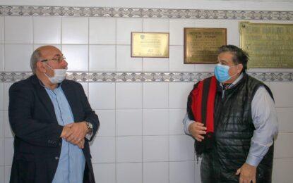 EL INTENDENTE ISHII Y EL DR. VEGLIENZONE EN LOS 20 AÑOS DEL ODONTOLÓGICO EVA PERÓN DE JOSÉ C. PAZ