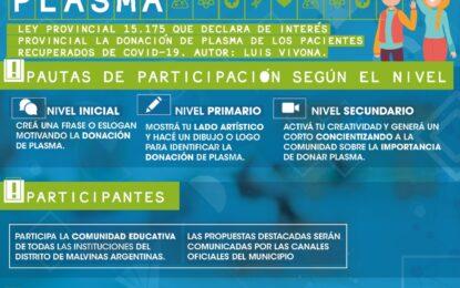 EN ESCUELAS DE MALVINAS ARGENTINAS CONCURSO DE CONCIENTIZACIÓN DE DONACIÓN DE PLASMA