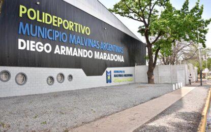 EL POLIDEPORTIVO DE NOGUÉS YA SE LLAMA DIEGO ARMANDO MARADONA POR ORDENANZA DEL INTENDENTE NARDINI