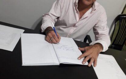 GUSTAVO ESTAPE PRESIDE LA MESA DEL PARTIDO DE  SERGIO BERNI EN SAN MIGUEL
