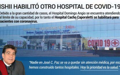 YA FUNCIONA EL HOSPITAL MUNICIPAL CAPORALETTI EN JOSÉ C. PAZ COMO EL SEGUNDO DEDICADO AL COVID-19