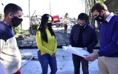 OBRA DE PAVIMENTACIÓN E HIDRÁULICA EN CALLE VILLA DE MAYO RECORRIDA POR EL INTENDENTE NARDINI
