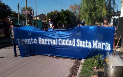 LOCROS EL 1º DE MAYO EN CIUDAD SANTA MARÍA CON EL FRENTE BARRIAL SOLIDARIO CON EL LARCADE
