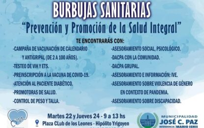 BURBUJAS SANITARIAS. PREVENCIÓN Y PROMOCIÓN DE LA SALUD INTEGRAL EN JOSÉ C. PAZ