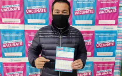 EL INTENDENTE LEO NARDINI RECIBIÓ SU PRIMERA DOSIS DE LA VACUNA CONTRA EL COVID-19 EN MALVINAS ARGENTINAS