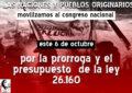 MOVILIZACIÓN NACIONAL DE PUEBLOS ORIGINARIOS  AL CONGRESO NACIONAL